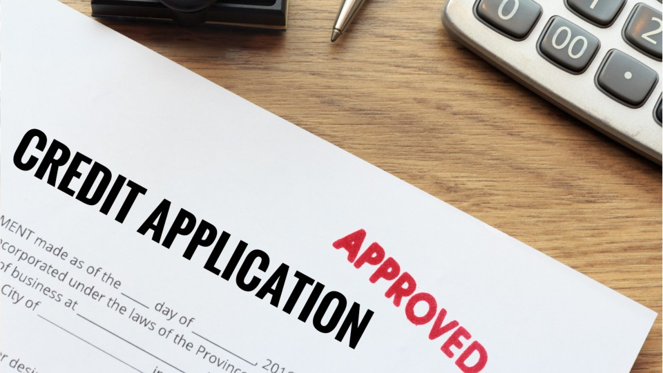approved credit appplication paperwork