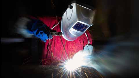 career cluster image of a Welders, cutters, solderers, and brazers job occupation
