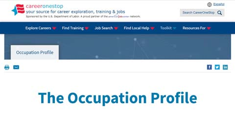 occupation profile video page